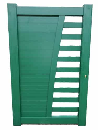 Portillon aluminium contemporain